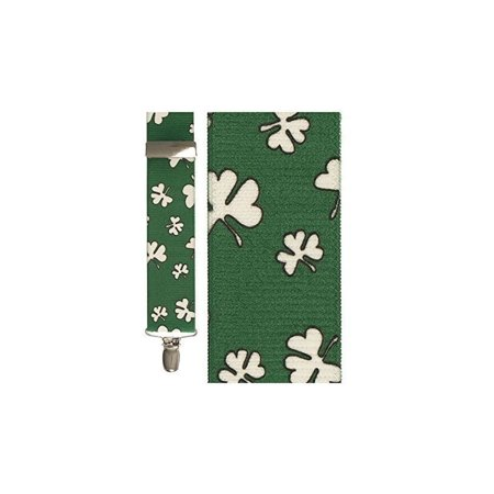 Shamrock Holiday Novelty Suspenders - Shamrock Suspenders