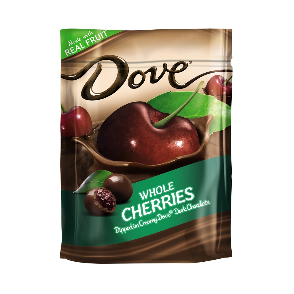 DOVE Fruit Dark Chocolate With Whole Cherries Snack Pouch, 6 oz