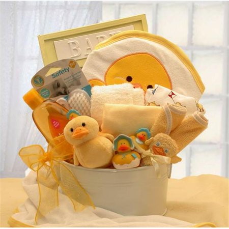 Gift Basket Drop Shipping 89092 Y Bath Time Baby New Baby Basket   Yellow