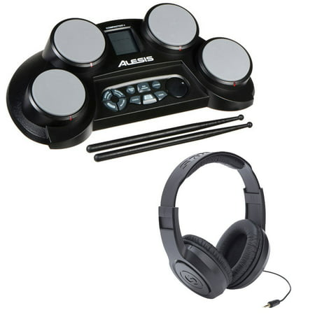 Alesis Compact Kit 4 Portable 4-Pad Tabletop Electronic Drum Kit +More (Alesis Audio Mixer)