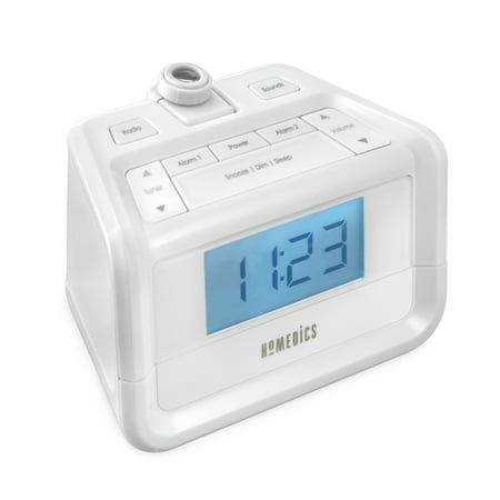 HoMedics, SoundSpa Digital FM Clock Radio, with Time Projection, -