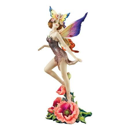 Design Toscano Flower Fairies of Butterfly Hollow: Wild Rose Fairy