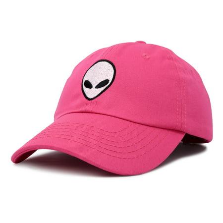d1a6cfb86 DALIX - DALIX Alien Head Baseball Cap Mens and Womens Hat in Hot Pink -  Walmart.com