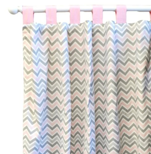 New Arrivals Peace Curtain Panels, Love Pink