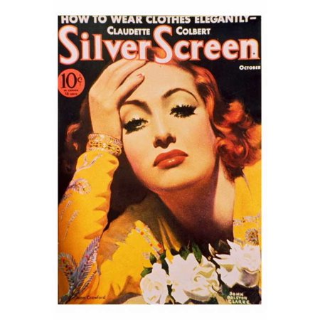 Joan Crawford Poster Movie Silver Screen Magazine Cover 1930S D  27X40