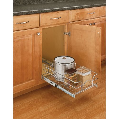 "Rev-A-Shelf 5WB1-1220 5WB Series 12"" Wide by 20"" Deep Pull Out Base Cabinet Wire Basket Organizer"