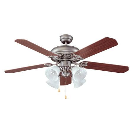Craftmade MAN52AN5C4 Manor 52 in. Indoor Ceiling Fan - Antique Nickel ()