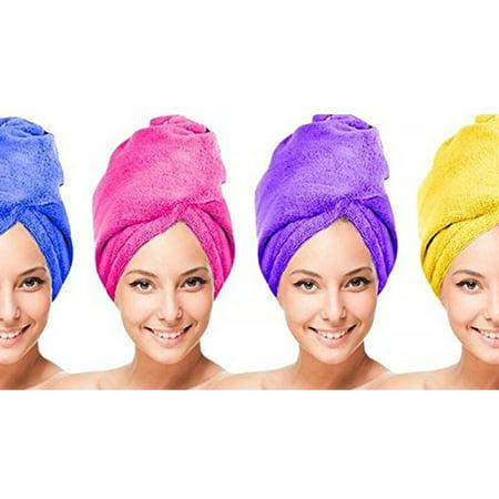 Towel Unit - IGIA Microfiber Hair Twist Towel Hair Drying Towel Clean Dry 4 UNITS