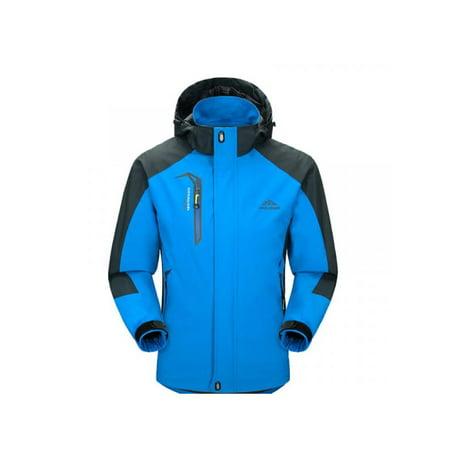 Mens Waterproof Hiking Jacket Coat Winter Ski Outdoor Sport Raincoat Hoodie