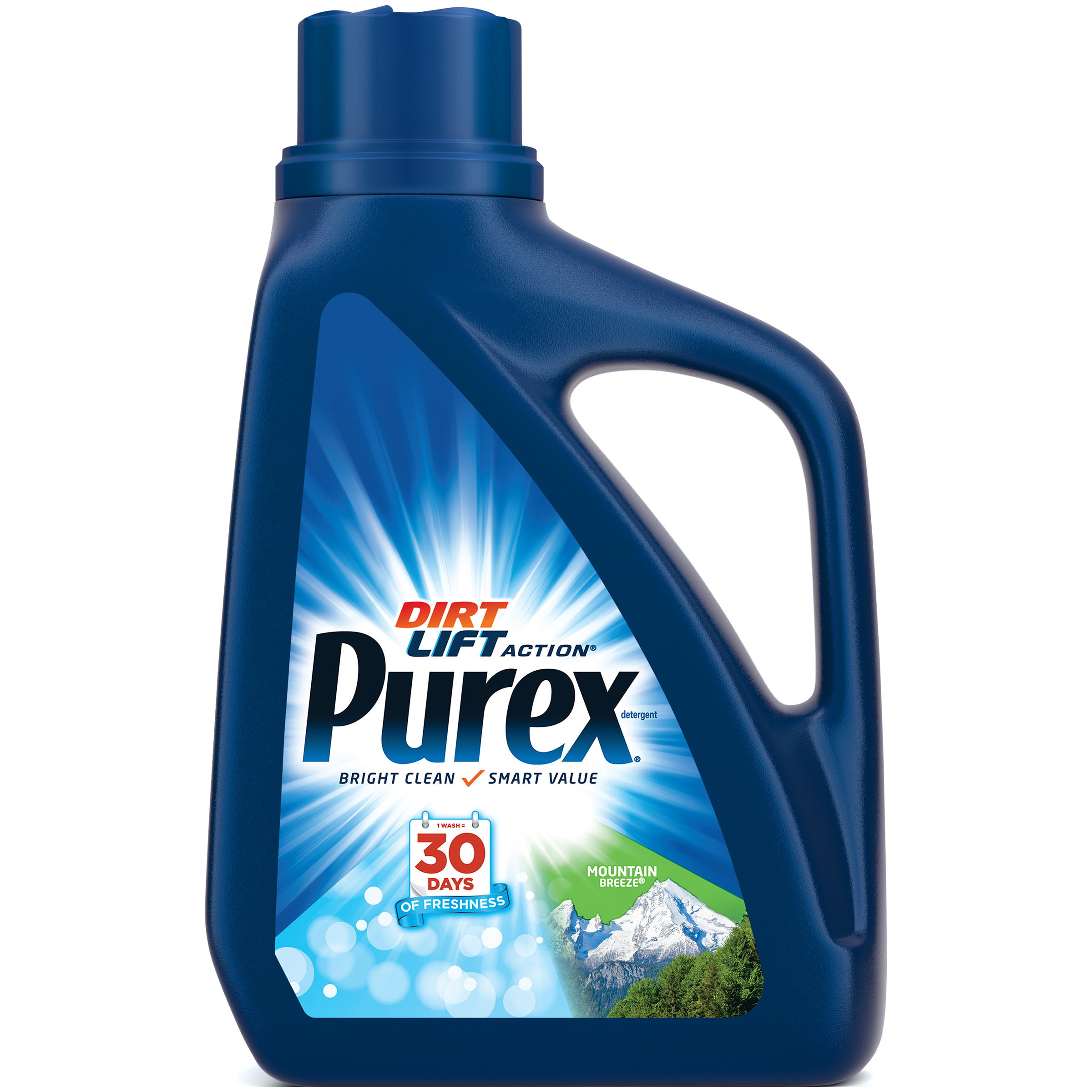 Purex Liquid Laundry Detergent, Mountain Breeze, 50 Fluid Ounces, 33 Loads
