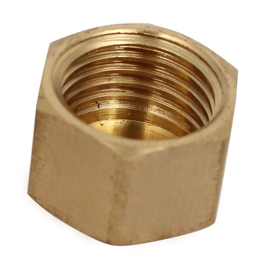 Unique Bargains1/4BSP Female Thread Brass Hex Head Pipe Cap Cover Fitting 2pcs - image 1 of 2