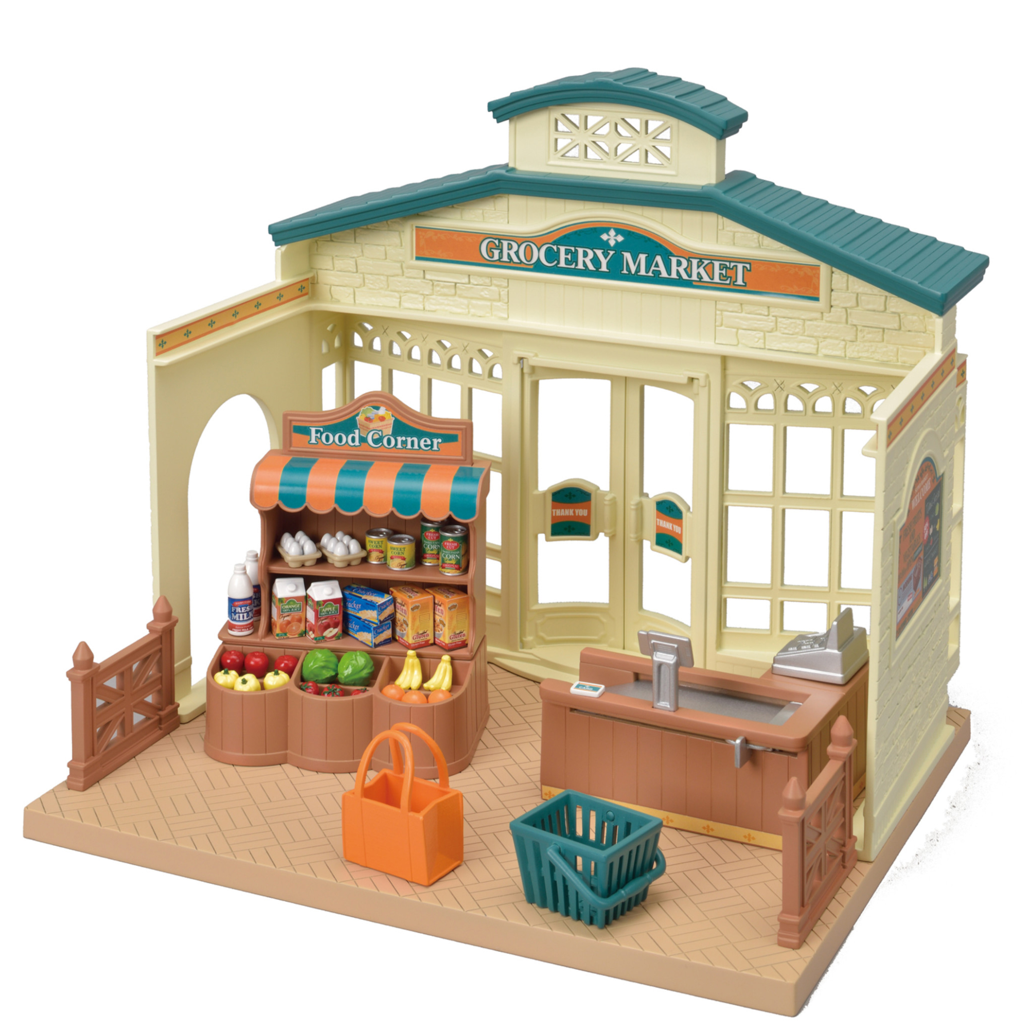 Calico Critters Grocery Market, Over 30 Pieces of Furniture and Accessories