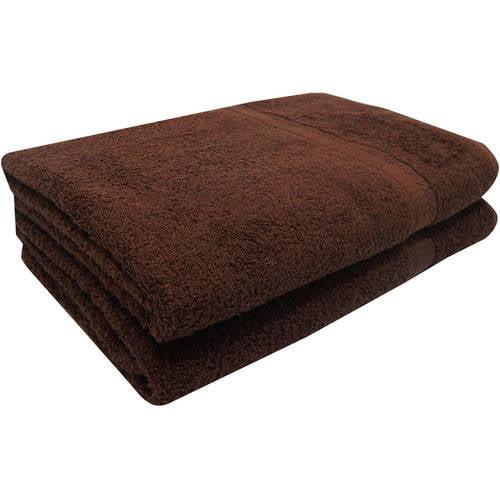 Mainstays Basic Cotton 2 Piece Bath Sheet Towel Set
