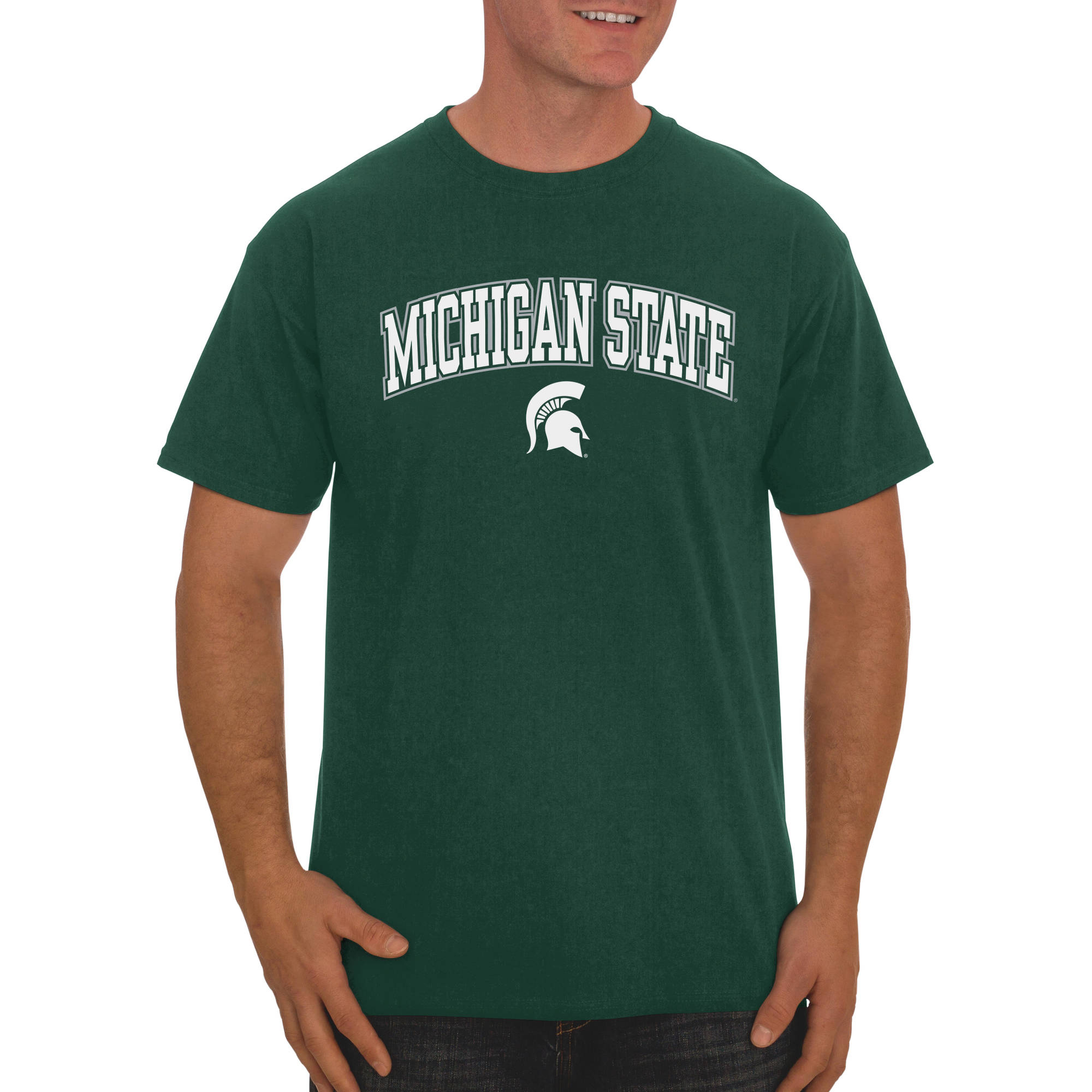 Russell NCAA Michigan State Spartans, Men's Classic Cotton T-Shirt
