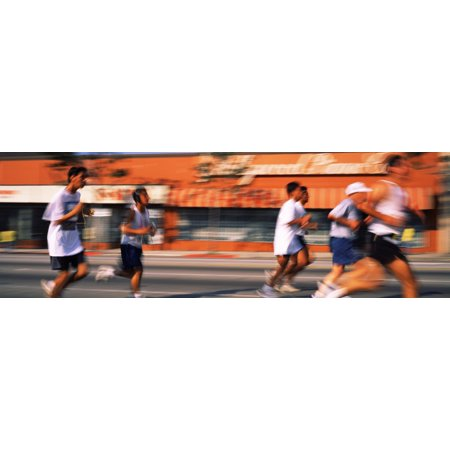 Runners competing in 10K Race Hollywood City of Los Angeles California USA Poster Print ()