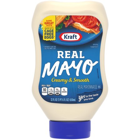(3 Pack) Kraft Real Mayonnaise, 22 fl oz Bottle