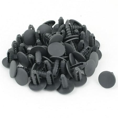 50 Pieces 8mm Hole Gray Plastic Rivet Interior Trim Panel Retainer Clips
