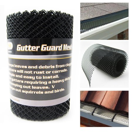 Mesh Gutter Guard (Gutter Guard Mesh 16 Ft X 6In Black Plastic 5