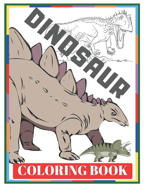 - Dinosaur Coloring Book: For Kids (Paperback)(Large Print) - Walmart.com -  Walmart.com