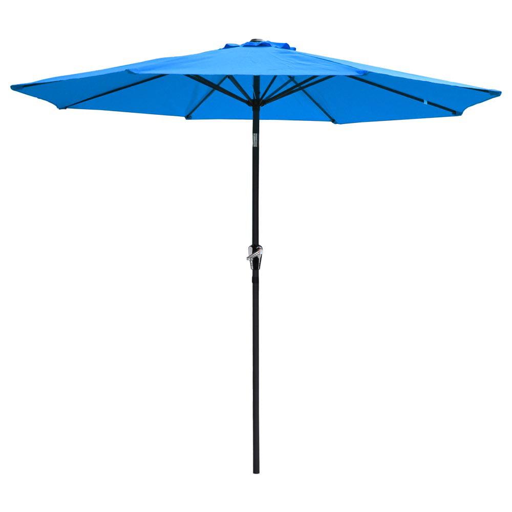 Yescom 9ft Aluminum Outdoor Patio Umbrella w  Crank Tilt Deck Market Yard Beach Pool Cafe by Yescom