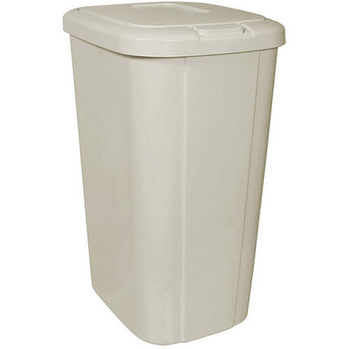 Hefty Touch-Lid 13.3-Gallon Trash Can, Tan