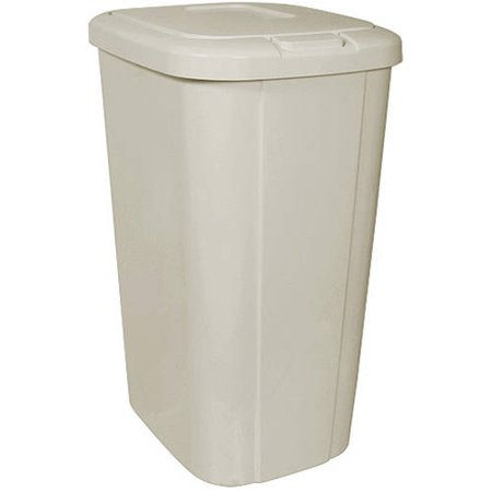 Hefty Touch Lid 13 3 Gallon Trash Can Tan Walmart Com