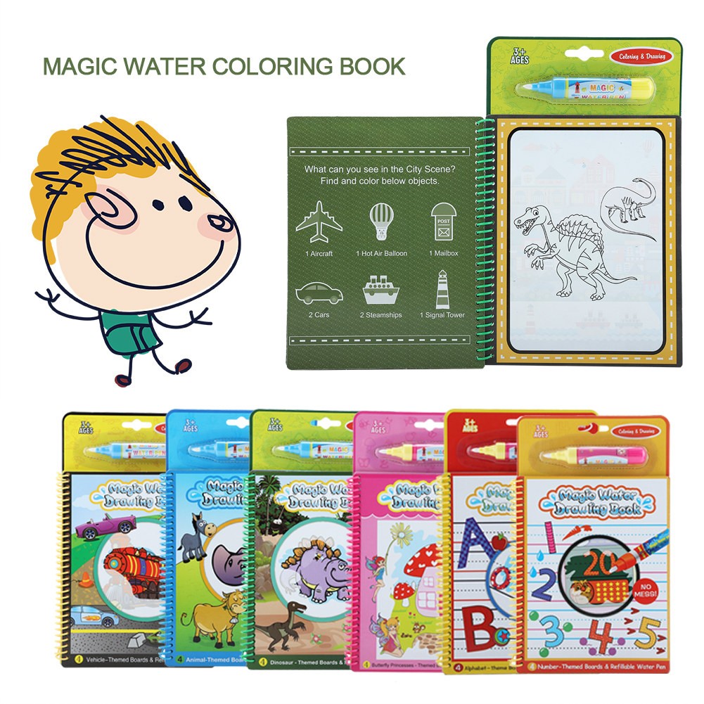 - WALFRONT Portable Magic Water Coloring Drawing Book Kids Children Painting  Educational Toy Gift,Magic Water Drawing Book, Children Coloring Books -  Walmart.com - Walmart.com