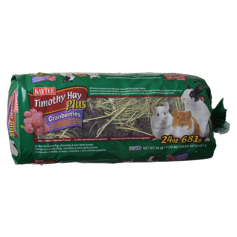 Kaytee Timothy Hay Plus Cranberries - Small Animals 24 oz