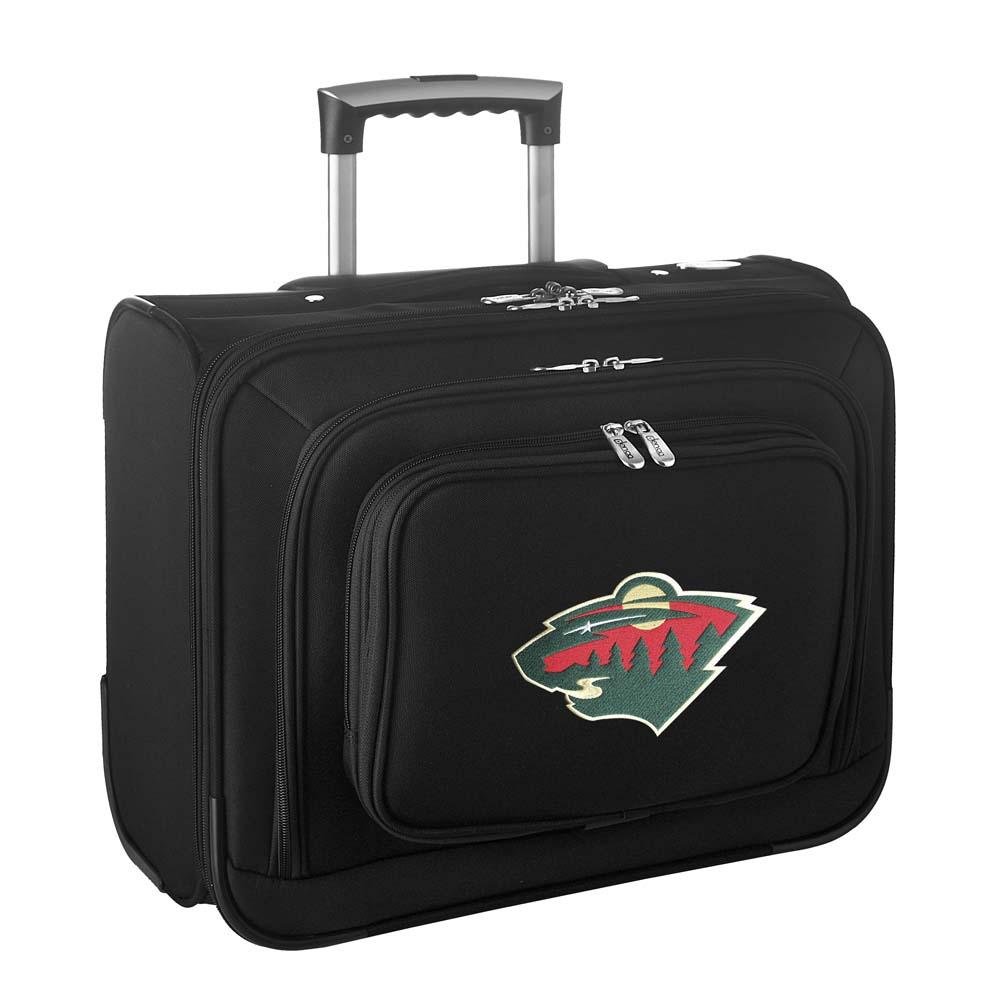 Denco NHL Wheeled Laptop Overnighter, Minnesota Wild by Mojo Licensing