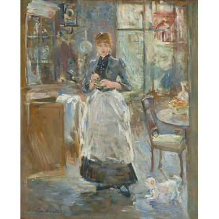 - In The Dining Room By Berthe Morisot 1886 French Impressionist Painting Oil On Canvas MorisotS Bold Brushwork Animates This Portrait In A Light Filled Interior Poster Print