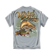 Wicked Fish Trout Fishing T-shirt by , Gravel