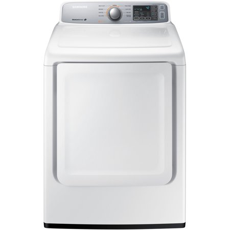 Samsung DV45H7000EW Large Capacity Front Load Electric Dryer with 7.4 cu. ft. Capacity 9 Cycles Sensor Dry in White
