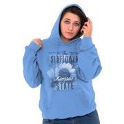 HOMETOWN & TOURIST Womens Hooded Pullover Sweatshirt Kansas Sunflower State Souvenir KS Mothers Day Garden Gift