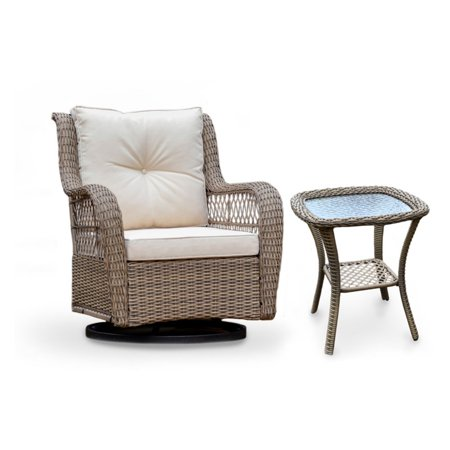 Tortuga Outdoor Rio Vista Wicker 2 Piece Patio Conversation Set ()