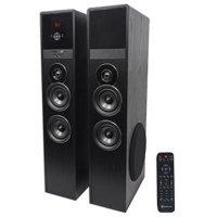 "Rockville TM80B Black Home Theater System Tower Speakers 8"" Sub/Bluetooth/USB"
