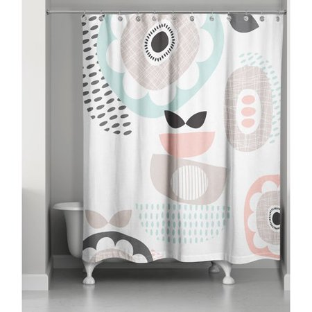Ivy Bronx Gammill Mid Mod Pastels Single Shower Curtain
