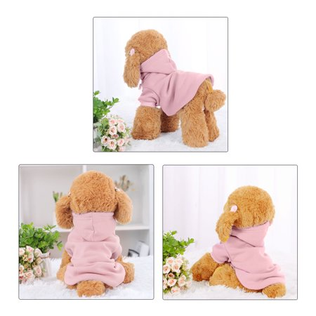 Cotton Dog Winter/Spring/Fall Sweatshirt Hoody Pet Clothes Warm Coat Pink M - image 5 of 7