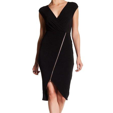 Zip Detail Sheath Dress - Rachel Rachel Roy NEW Black Women Size Medium M Zip-Detail Sheath Dress