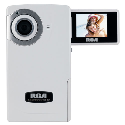 Refurbished RCA EZ201 Small Wonder 60 Minute Point-and-Shoot Camcorder (White)