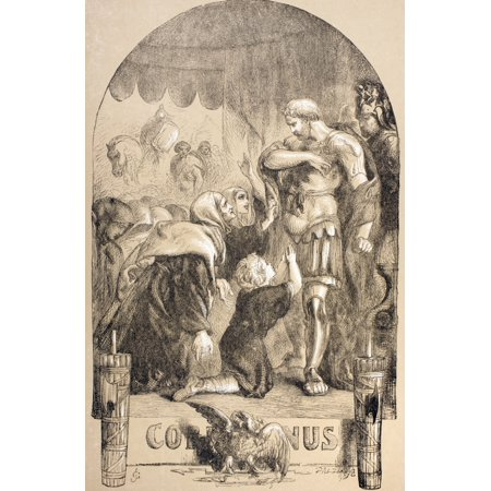 Illustration By Sir John Gilbert For Coriolanus By William Shakespeare From The Illustrated Library Shakspeare Published London 1890 Posterprint