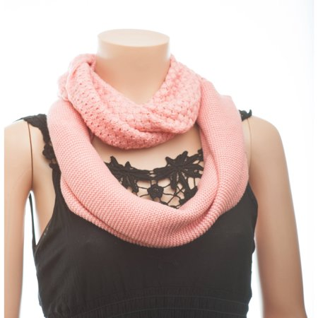 Celik Women's Infiniti Scarves Knitted Pattern in Two Designs In Solid Color