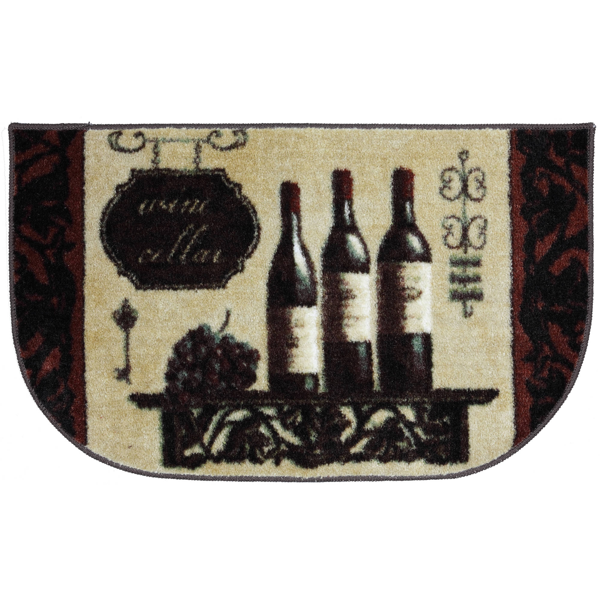 "Mohawk Wine Decor Kitchen Slice Rug, 20"" x 34"""