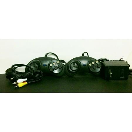 Rca Controller - 2 Gamepad Controllers + AV Cable RCA + AC Adapter for Sega Genesis 1 MK-1601
