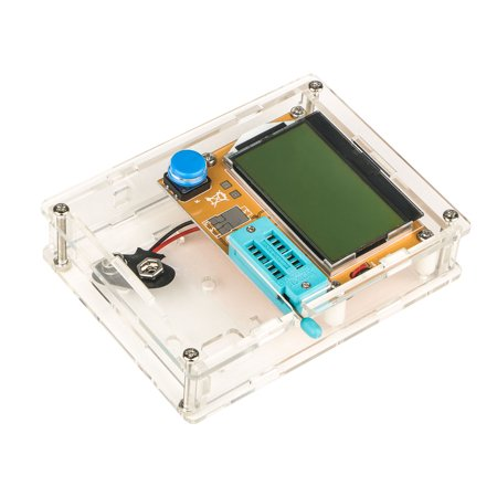 LCR-T4 Mega328 M328 Multimetr Transistor Tester ESR Meter Diode Triode Capacitance ESR Meter MOS PNP NPN LCR with CASE(No (Pnp Rf Transistor)