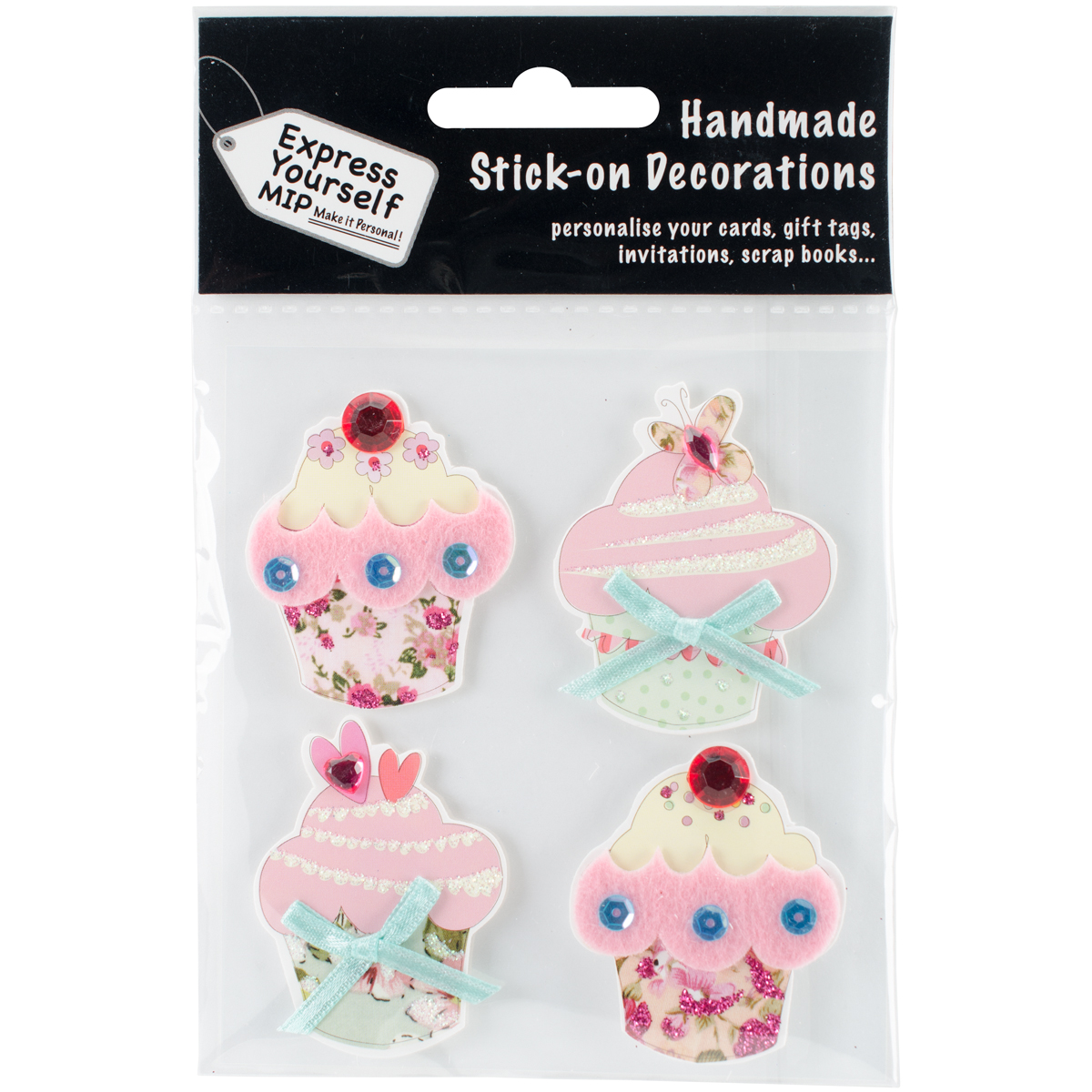 Express Yourself MIP 3D Stickers-Fairy Cakes