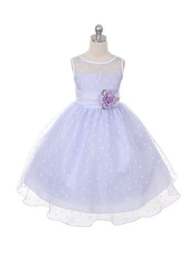 d9c9db17fb Product Image Kids Dream Baby Girls Lilac Sash Dot Sheer Flower Dress 24M