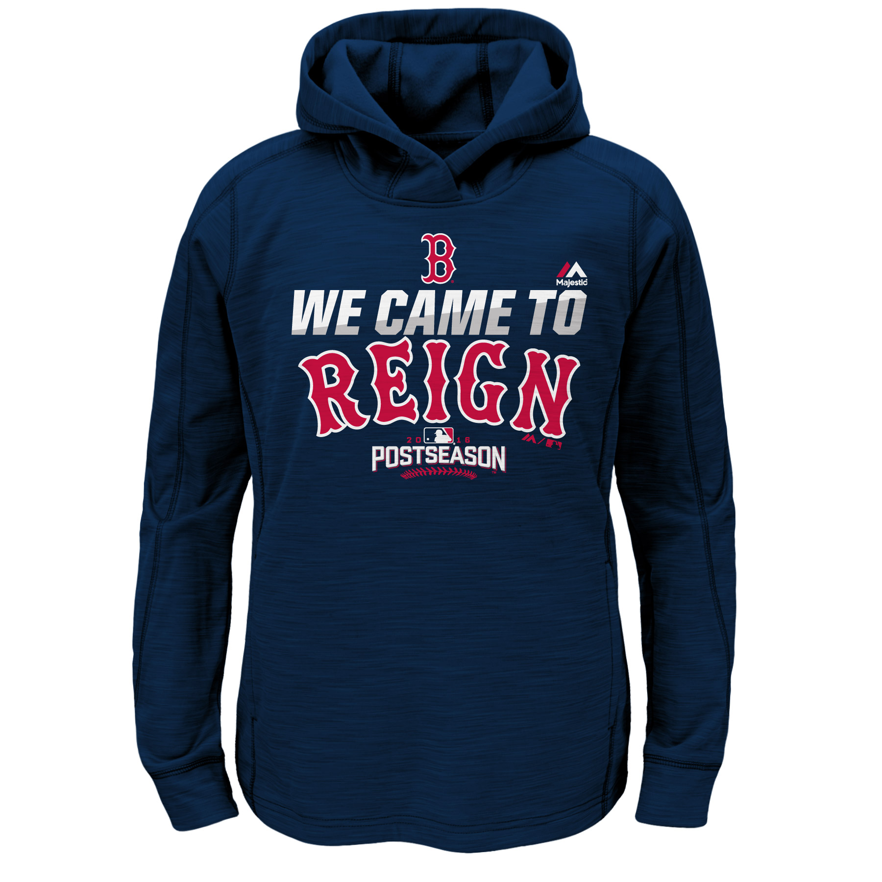 Boston Red Sox Majestic Youth Authentic Collection Postseason Participant Hoodie - Navy
