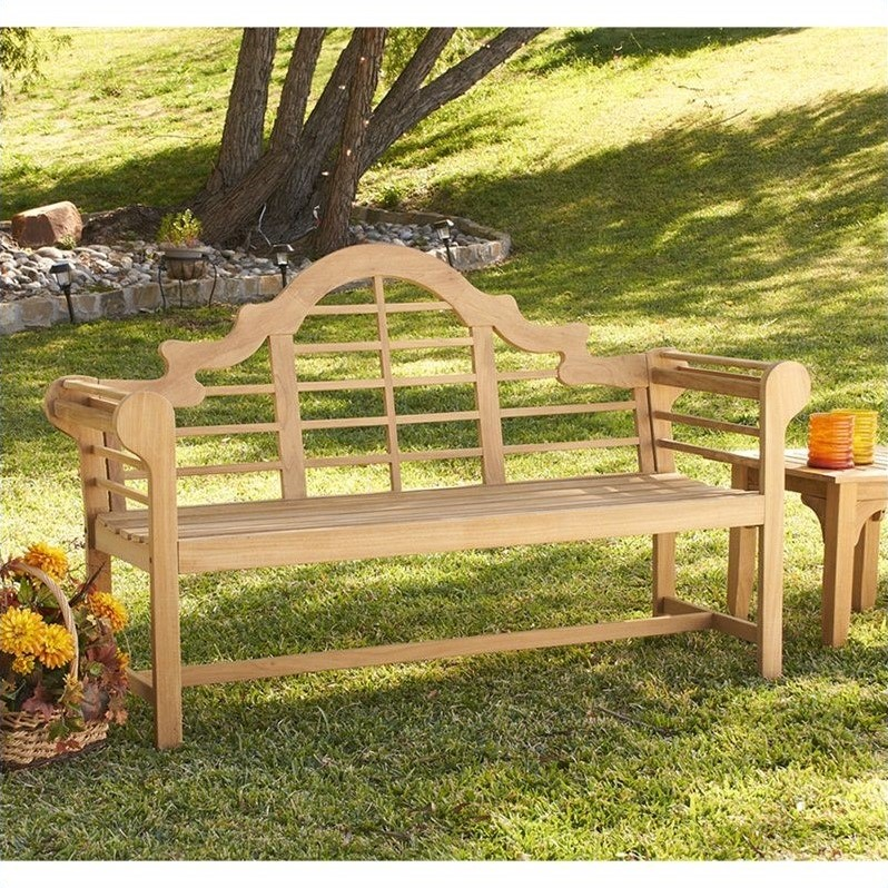 Outdoor Southern Enterprises Teak Lutyens Bench - CR7702