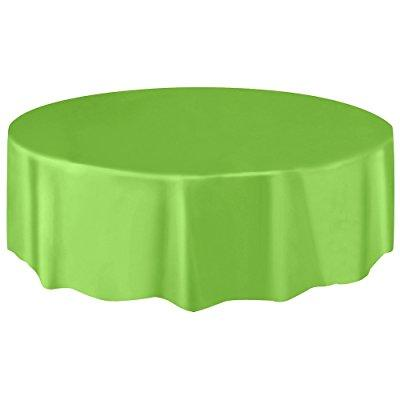 Round Plastic Tablecloth, 84, Lime Green