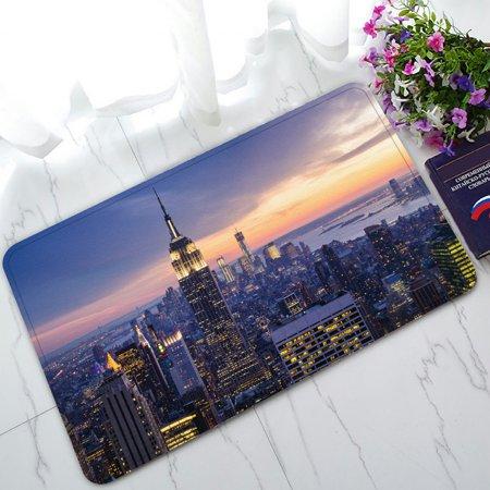 ZKGK New York City Skyline Non-Slip Doormat Indoor/Outdoor/Bathroom Doormat 30 x 18 Inches New York Mets Door Mat